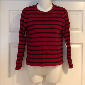 Ralph Lauren long sleeve red & black striped top